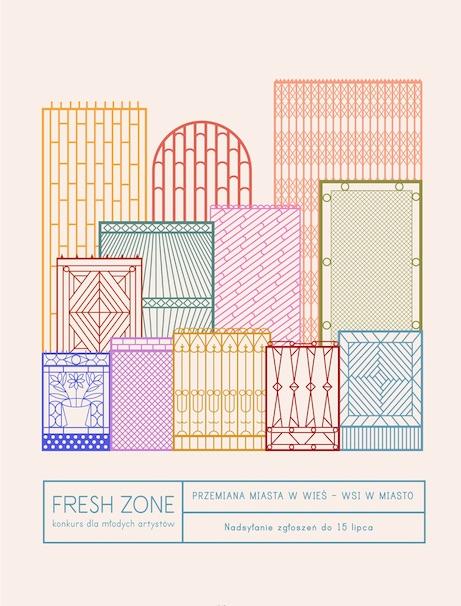 6. edycja konkursu Fresh Zone, plakat (źródło: materiały prasowe organizatora)