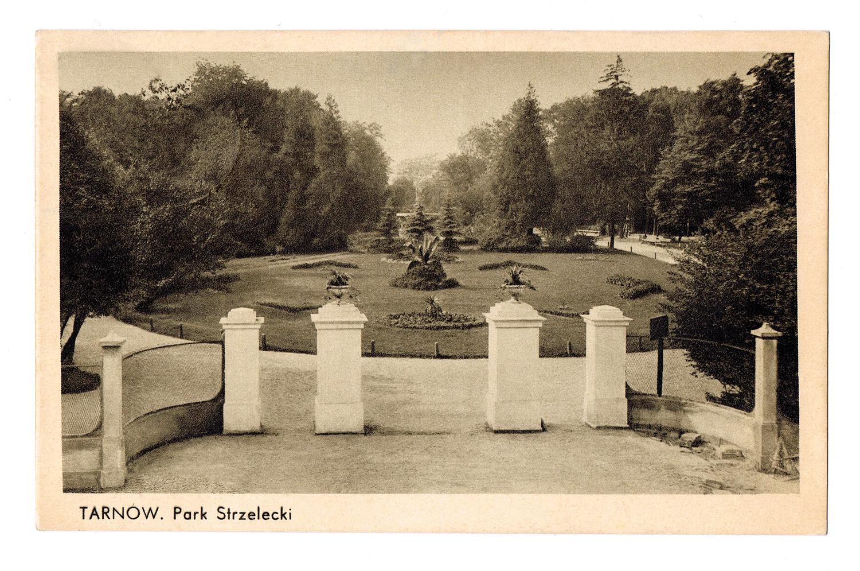 Park Strzelecki, przedwojenna kartka pocztowa, z kolekcji Marka Tomaszewskiego (źródło: materiały prasowe organizatora)