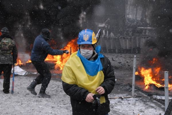 Kijów, 22 stycznia 2014. Fot. Paweł Bobołowicz (źródło: materiały prasowe wydawcy)