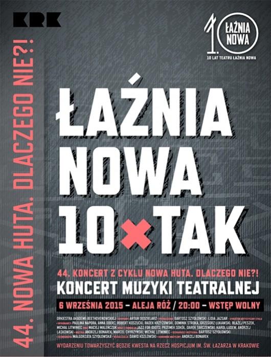 """""""Łaźnia Nowa – 10 x TAK"""" – plakat (źródło: materiały prasowe organizatora)"""