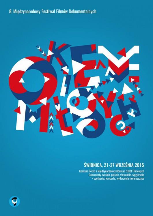 """8. Międzynarodowy Festiwal Filmów Dokumentalnych """"Okiem Młodych"""", plakat (źródło: materiały prasowe organizatora)"""