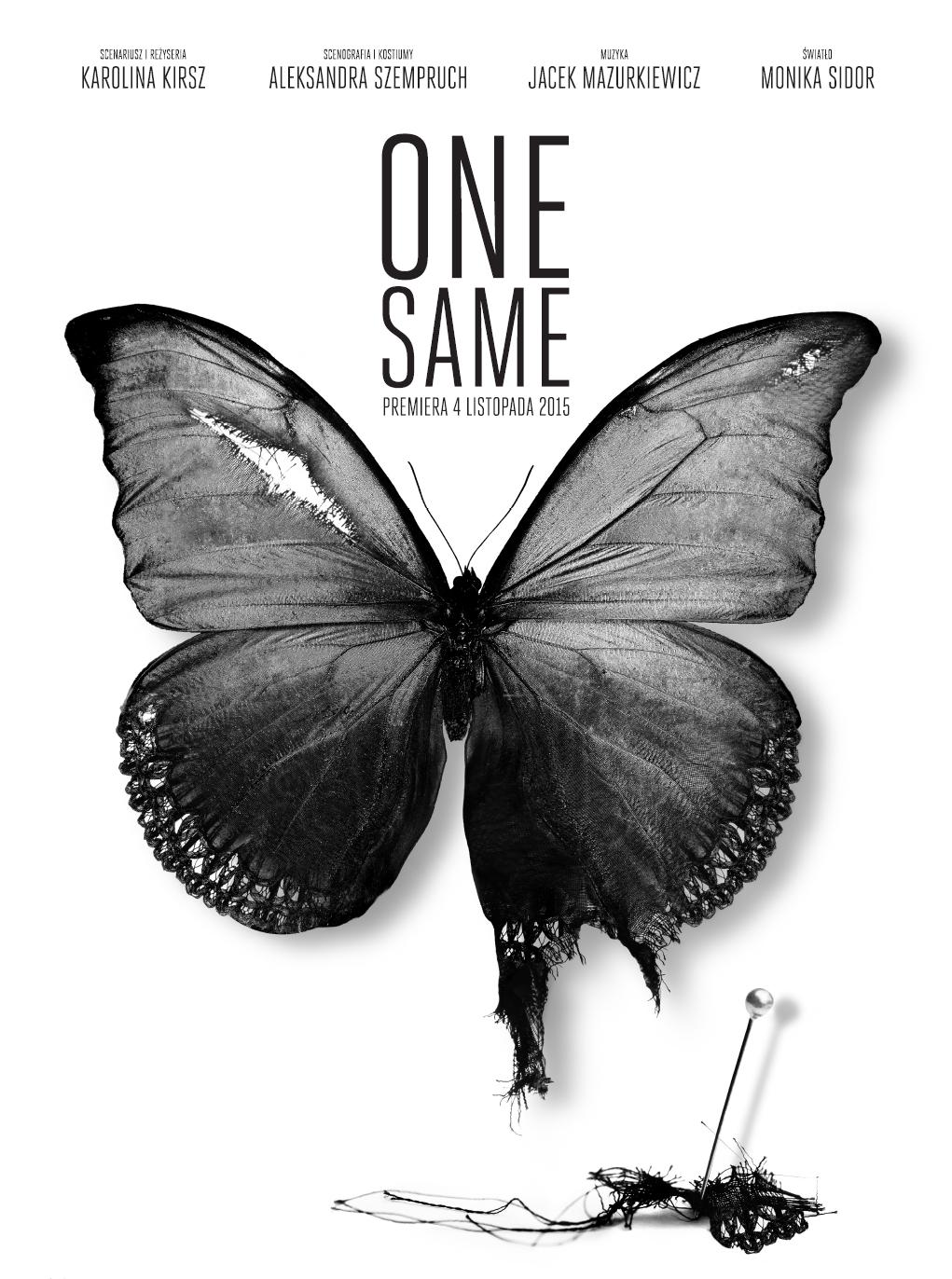 """""""One same"""", reż. Karolina Kirsz – plakat projektu Magdy Kuc (źródło: materiały prasowe)"""