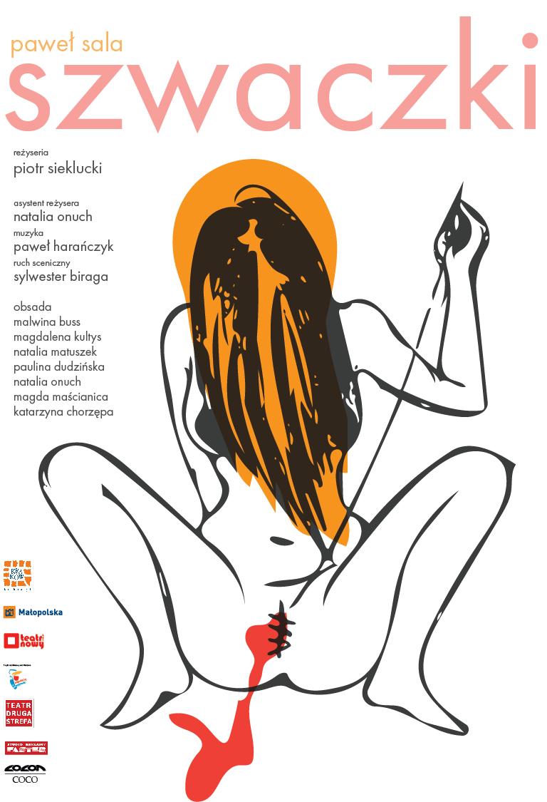 """""""Szwaczki"""", reż. Piotr Sieklucki, tekst: Paweł Sala – plakat (źródło: materiały prasowe organizatora)"""