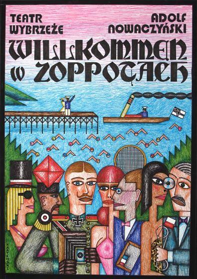 """Wystawa """"Plakaty Teatru Wybrzeże w Gdańsku"""", plakat autorstwa Andrzeja Krajewskiego (źródło: materiały prasowe organizatora)"""