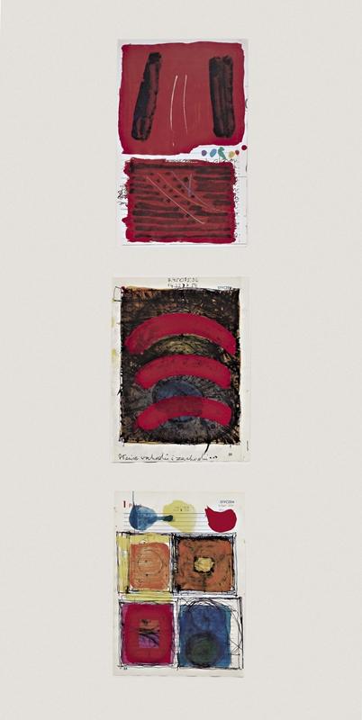 Studia do obrazów, 1988, akryl, papier, 90 x 45 cm – fot. pracownia fotograficzna ASP w Łodzi: Jarosław Darnowski, Ryszard Wiejski-Woschendorf (źródło: materiały prasowe)