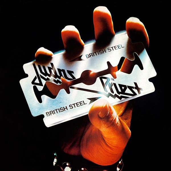 """Rosław Szaybo, okładka albumu """"British Steel"""" Judas Priest (źródło: materiały prasowe organizatora)"""