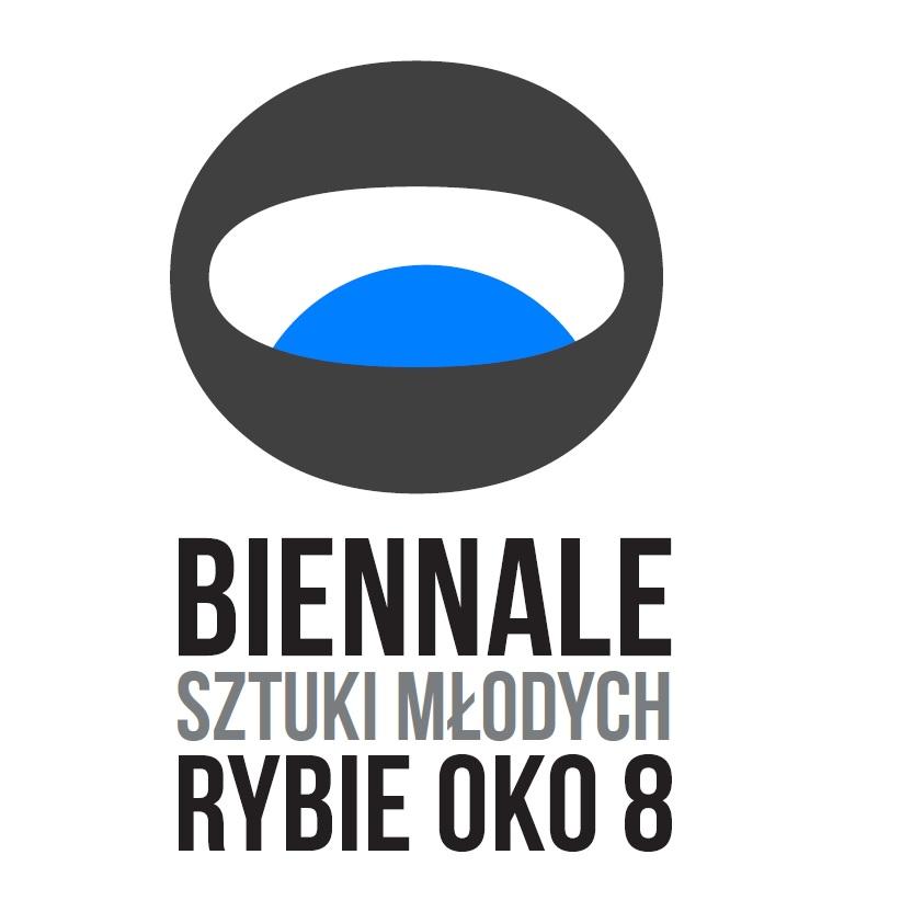 """Wystawa Biennale Sztuki Młodych """"Rybie Oko 8"""", logotyp (źródło: materiały prasowe organizatora)"""