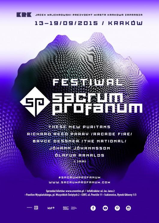 Sacrum Profanum Festival 2015 – plakat (źródło: materiały prasowe organizatora)