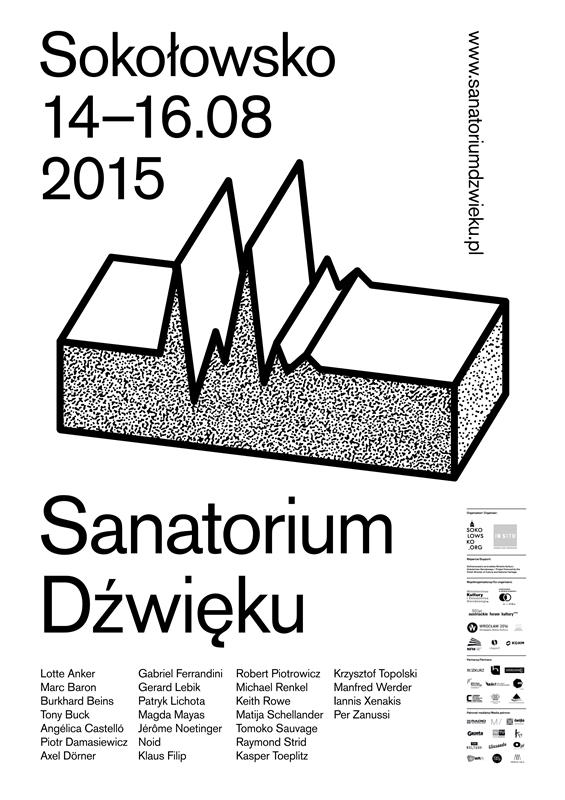 Sanatorium Dźwięku 2015 – plakat (źródło: materiały prasowe organizatora)