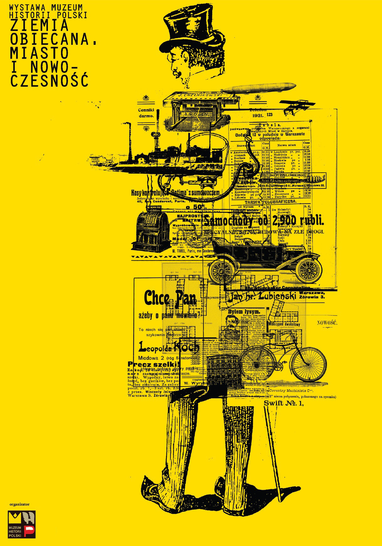"""Wystawa """"Ziemia obiecana. Miasto i nowoczesność"""", plakat (źródło: materiały prasowe organizatora)"""
