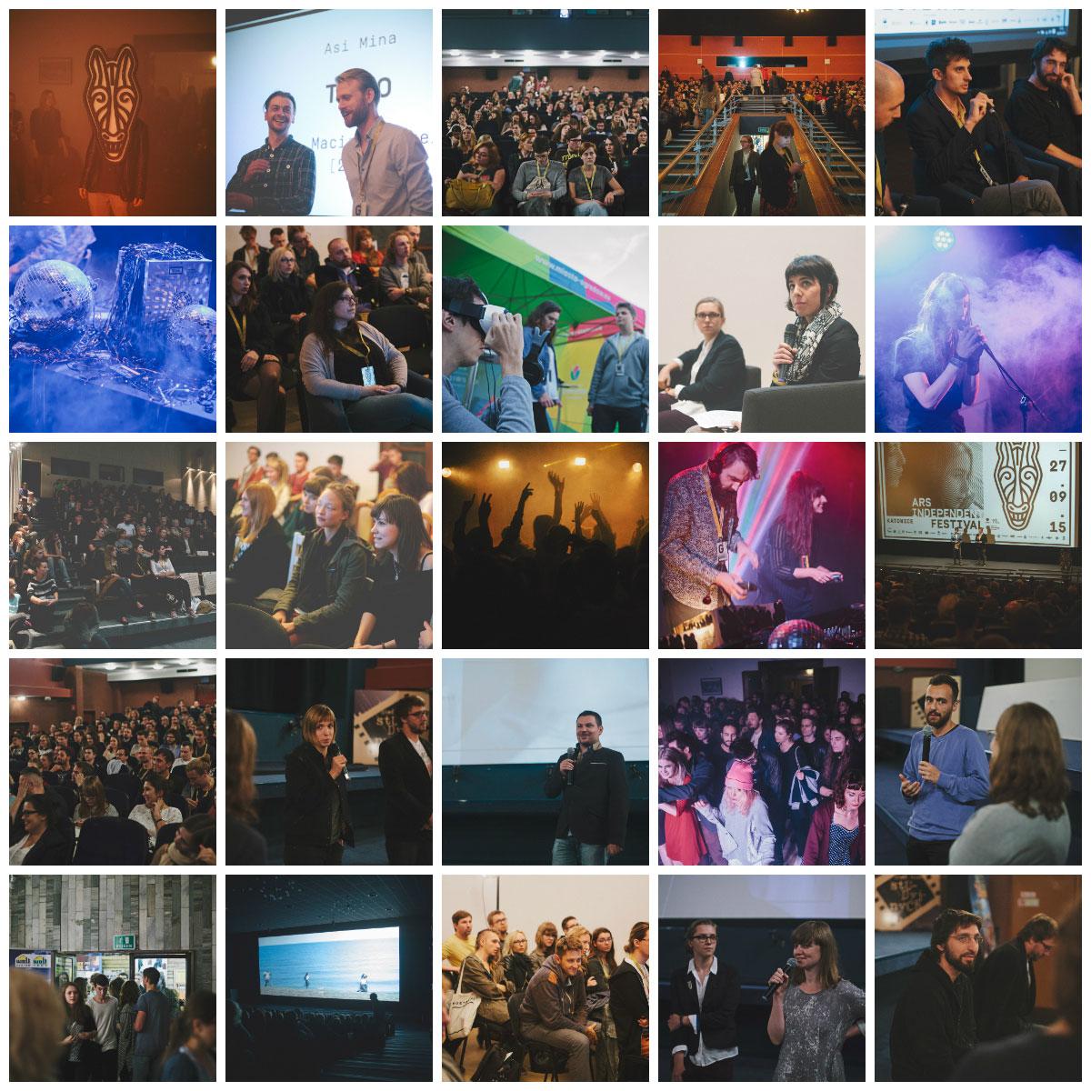 Ars Independent Festival 2015, kolaż (źródło: materiały prasowe organizatora)