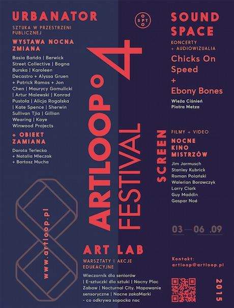 """Artloop Festival – """"Nocna zmiana"""", plakat (źródło: materiały prasowe organizatora)"""