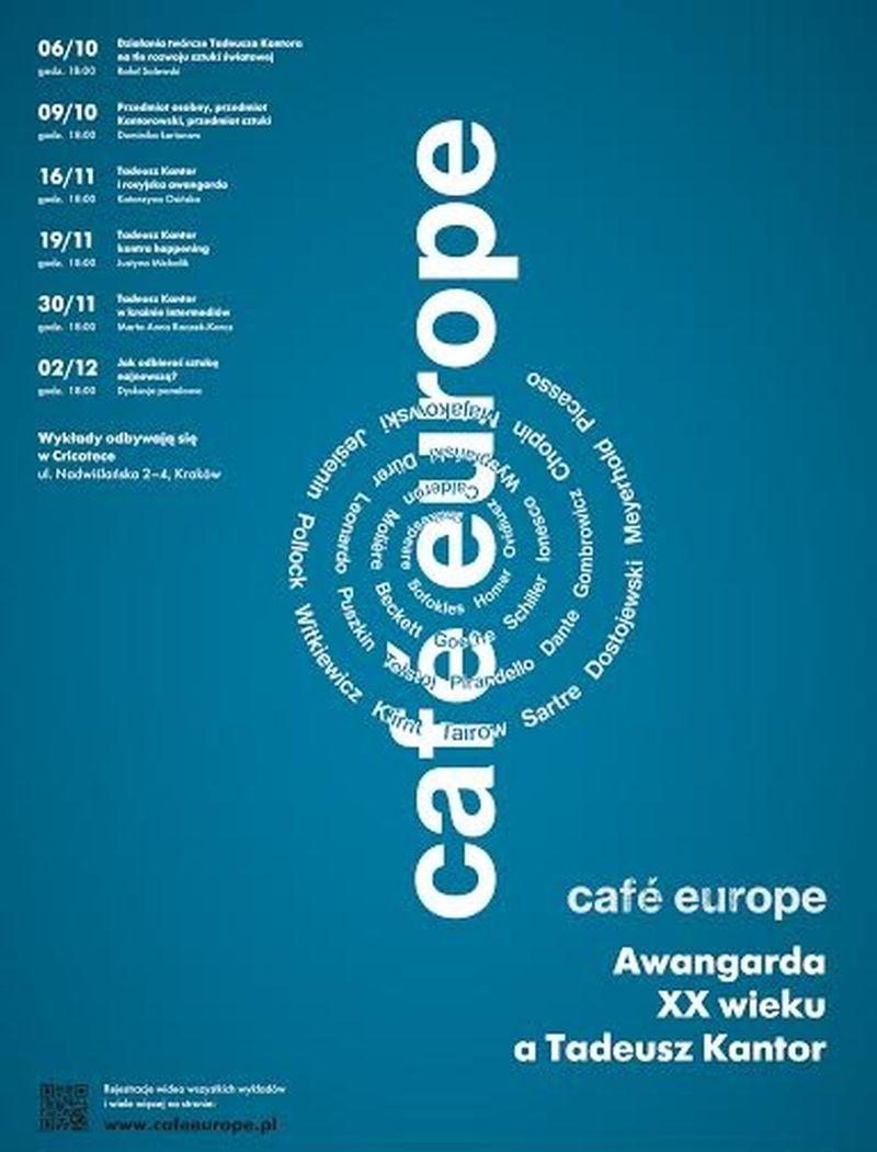"""""""Café Europe. Awangarda XX wieku a Tadeusz Kantor"""" – plakat (źródło: materiały prasowe)"""