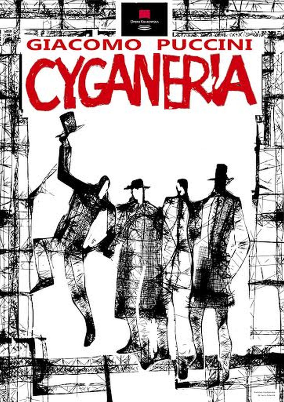 """""""Cyganeria"""" – plakat autorstwa Barbary Kędzierskiej i Laco Adamika (źródło: materiały prasowe)"""