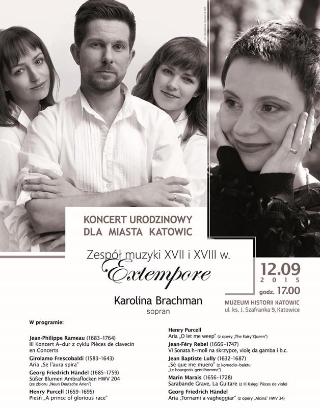 Koncert Extempore i Karoliny Brachman – plakat (źródło: materiały prasowe)