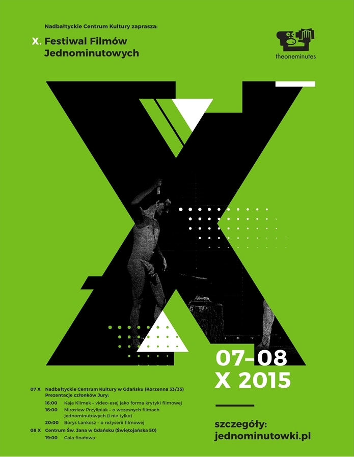 10. Festiwal Filmów Jednominutowych – plakat (źródło: materiały prasowe)