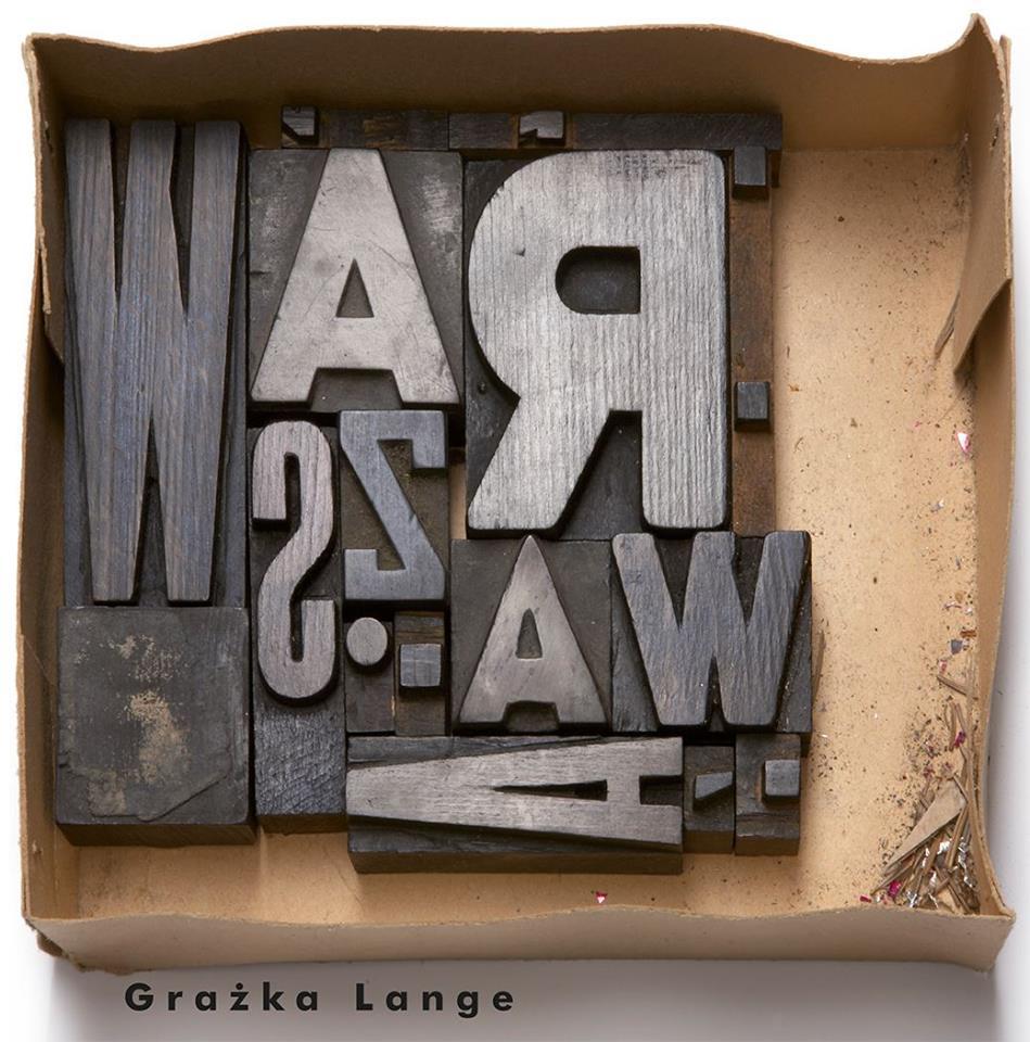 """""""Warszawa"""", pomysł i ilustracje: Grażka Lange, okładka (źródło: materiały prasowe)"""
