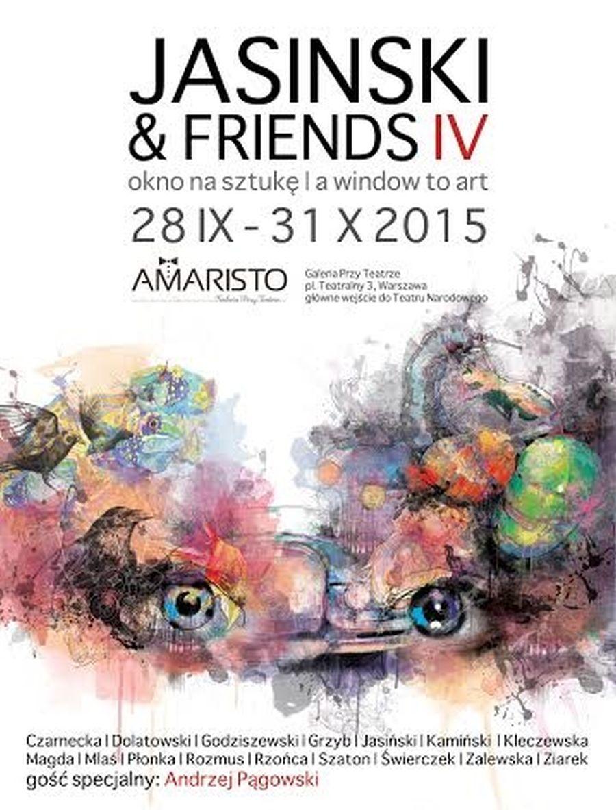 """""""Jasinski&friends IV. Okno na sztukę"""" – plakat (źródło: materiały prasowe"""