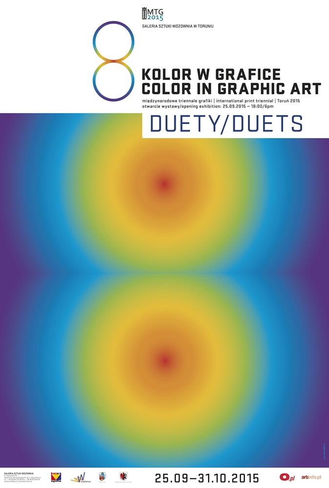 """8. Międzynarodowe Triennale Grafiki """"Kolor w grafice"""" / """"Duety"""" – plakat (źródło: materiały prasowe)"""