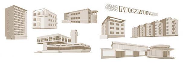 """""""MOK. Ilustrowany atlas architektury północnego Mokotowa"""" (źródło: materiały prasowe)"""