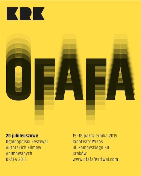 20. Ogólnopolski Festiwal Autorskich Filmów Animowyanych OFAFA 2015, plakat autorstwa Szymona Kiwerskiego (źródło: materiały prasowe organizatora)