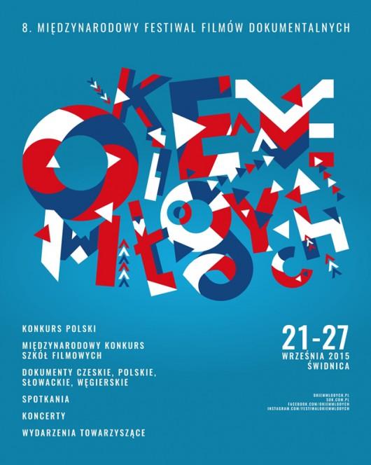 """8. Międzynarodowy Festiwal Filmów Dokumentalnych """"Okiem Młodych"""" – plakat (źródło: materiały prasowe)"""