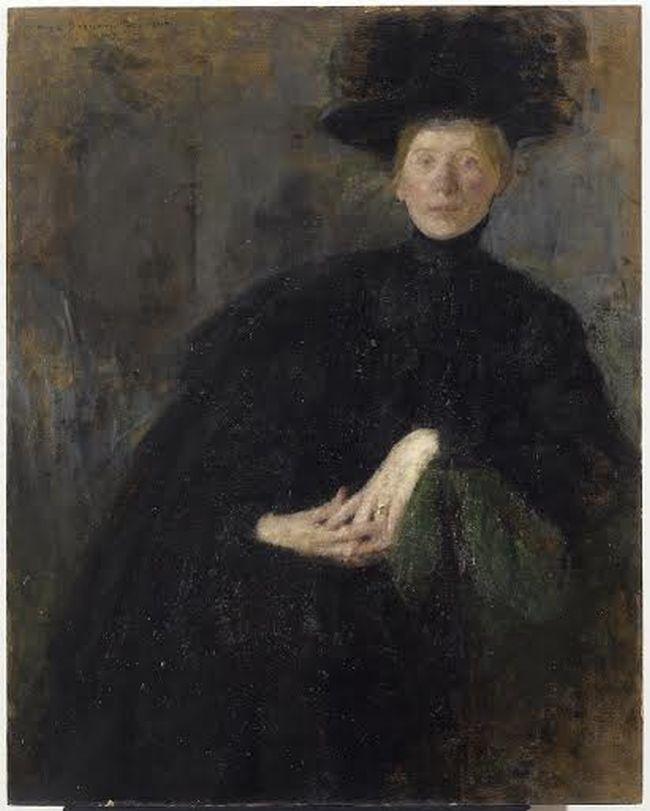 """""""Portret damy w czarnym kapeluszu"""", Olga Boznańska (źródło: materiały prasowe Muzeum Miejskiego Wrocławia)"""