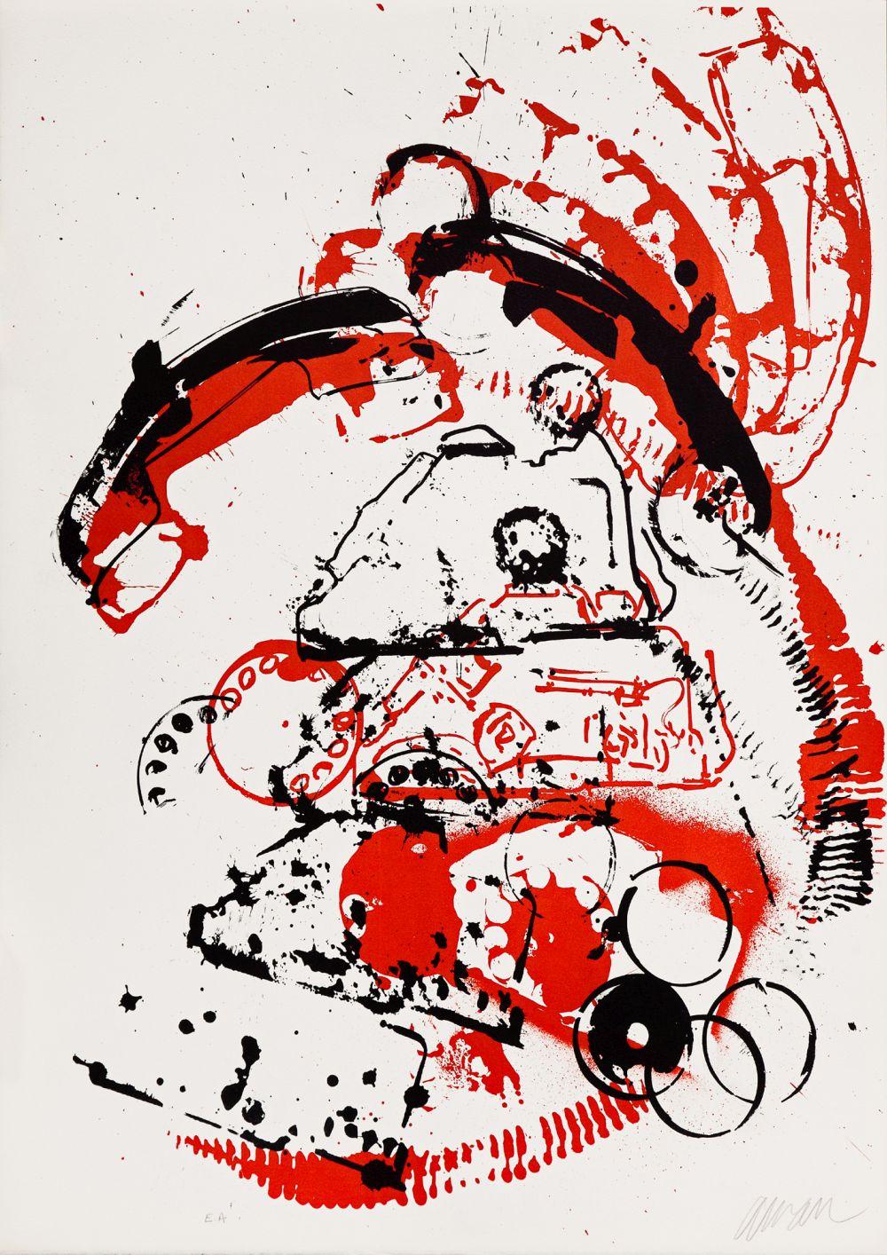 Arman, Wnętrza rzeczy I – Telefon, 1971, litografia, EA, 65 x 48,8, Kolekcja CGII – inv. OE 6794 © ADAGP (źródło: materiały prasowe)