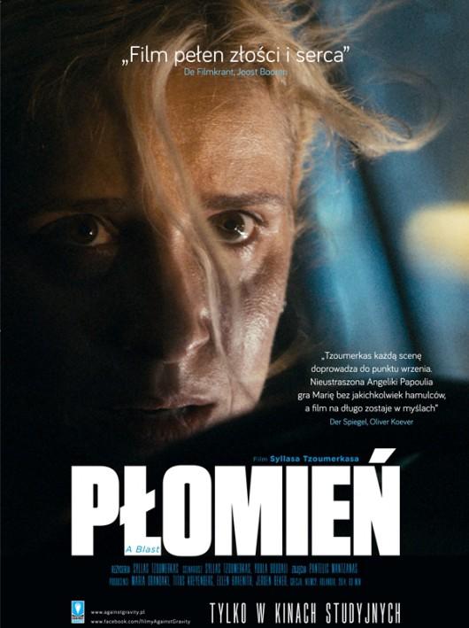 """""""Płomień"""", reż. Syllas Tzoumerkas – plakat (źródło: materiały prasowe dystrybutora)"""