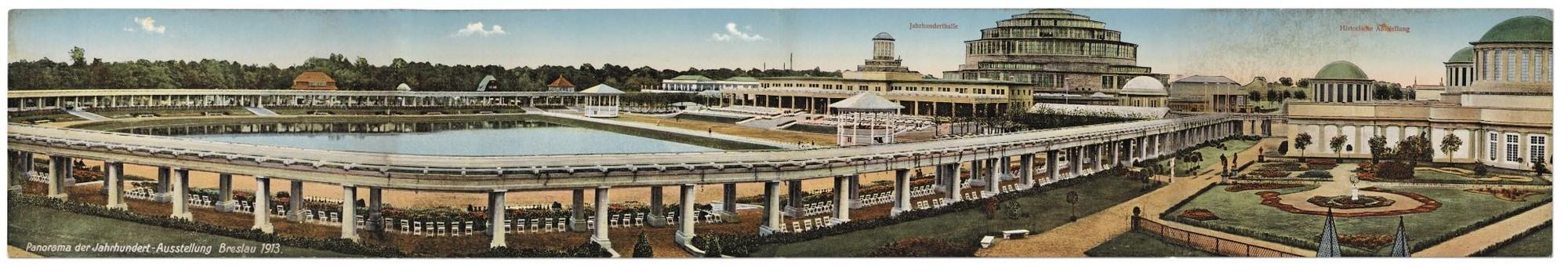 Zdjęcie panoramiczne (horyzontalne czteroczęściowe) Wystawy Stulecia 1913 roku (źródło: materiały prasowe organizatora)