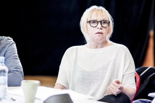 """Joanna Żółkowska, próby do spektaklu """"Wujaszek Wania"""", fot. Magda Pawluczuk (źródło: materiały prasowe)"""