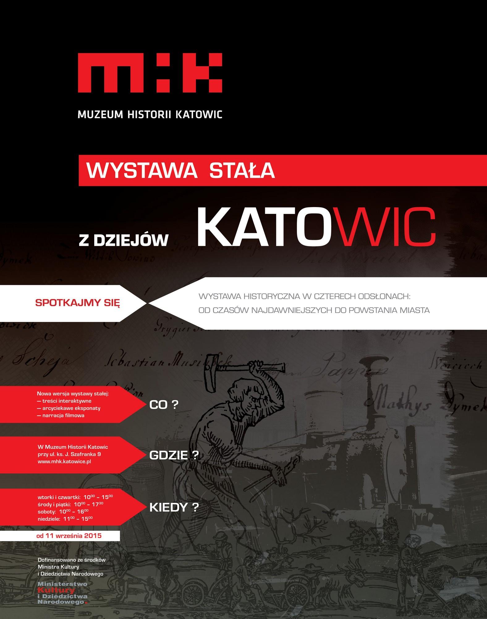 """""""Z dziejów Katowic"""" – plakat (źródło: materiały prasowe organizatora)"""