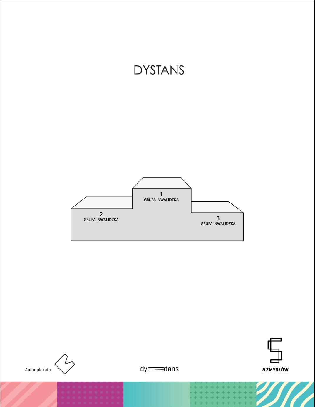 """""""5 Zmysłów. DYSTANS"""" – plakat, Michał Bałdyga (źródło: materiały prasowe organizatora)"""
