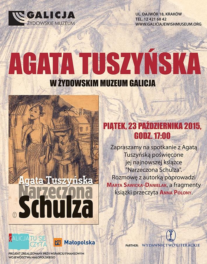 Spotkanie z Agatą Tuszyńską – plakat (źródło: materiały prasowe organizatora)