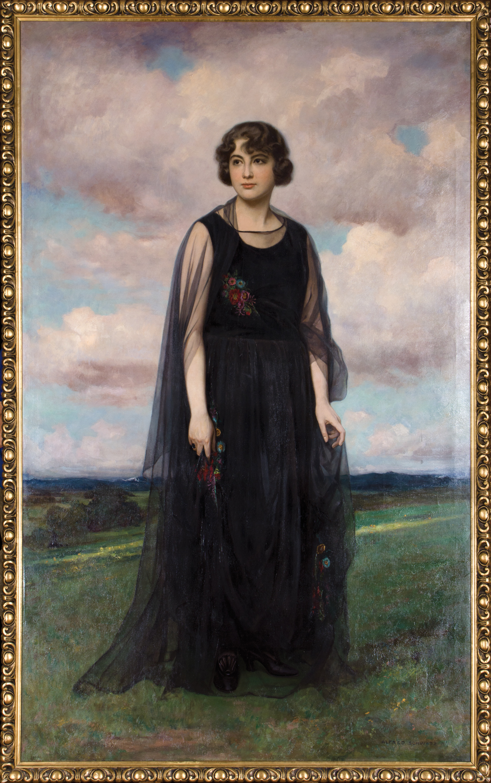 """Alfred Schwarz, """"Portret Izy Marii Poznańskiej"""", 1919, olej, płótno, własność Muzeum Polskiego w Rapperswilu (źródło: materiały prasowe organizatora)"""
