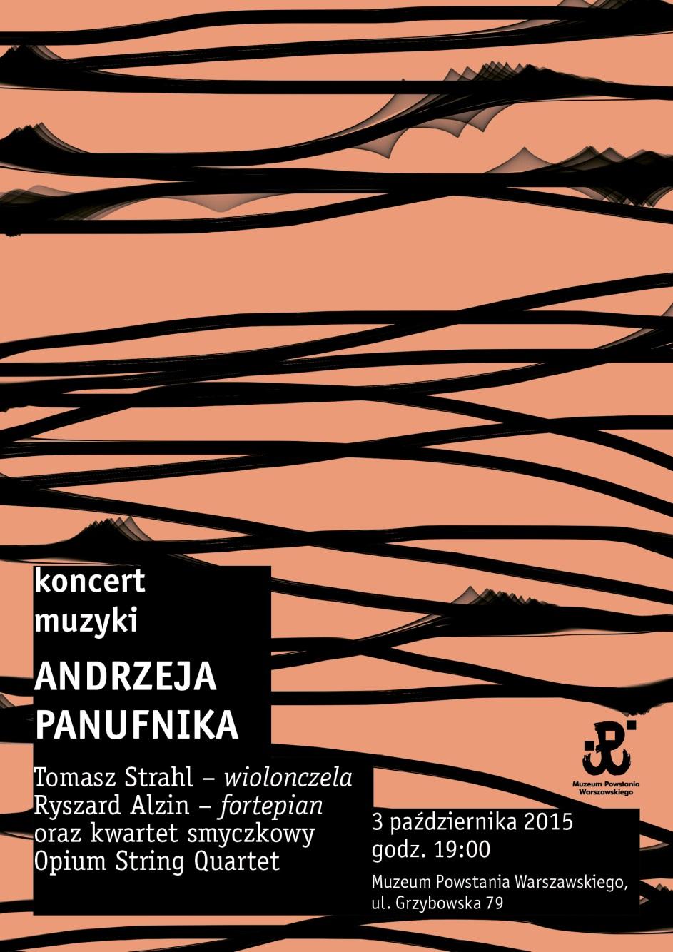 Koncert muzyki Andrzeja Panufnika – plakat (źródło: materiały prasowe)