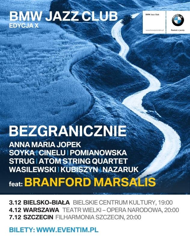 """Brainford Marsalis, """"Bezgranicznie"""" – plakat (źródło: materiały prasowe organizatora)"""