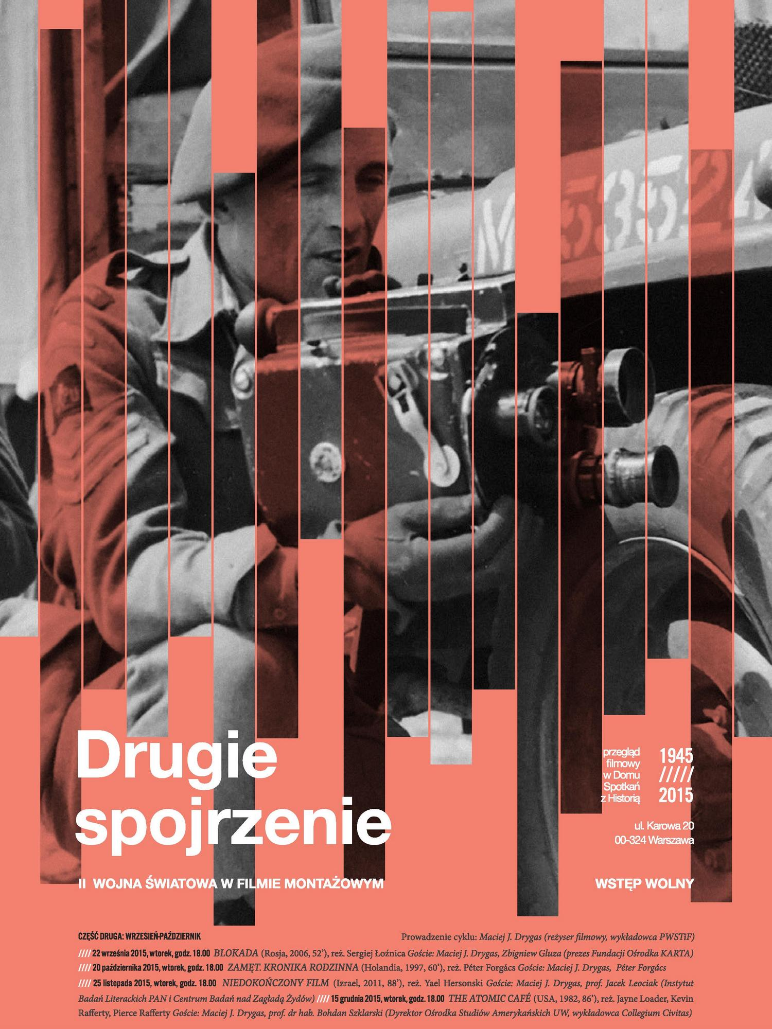 """Cykl """"Drugie spojrzenie"""" – plakat (źródło: materiały prasowe organizatora)"""