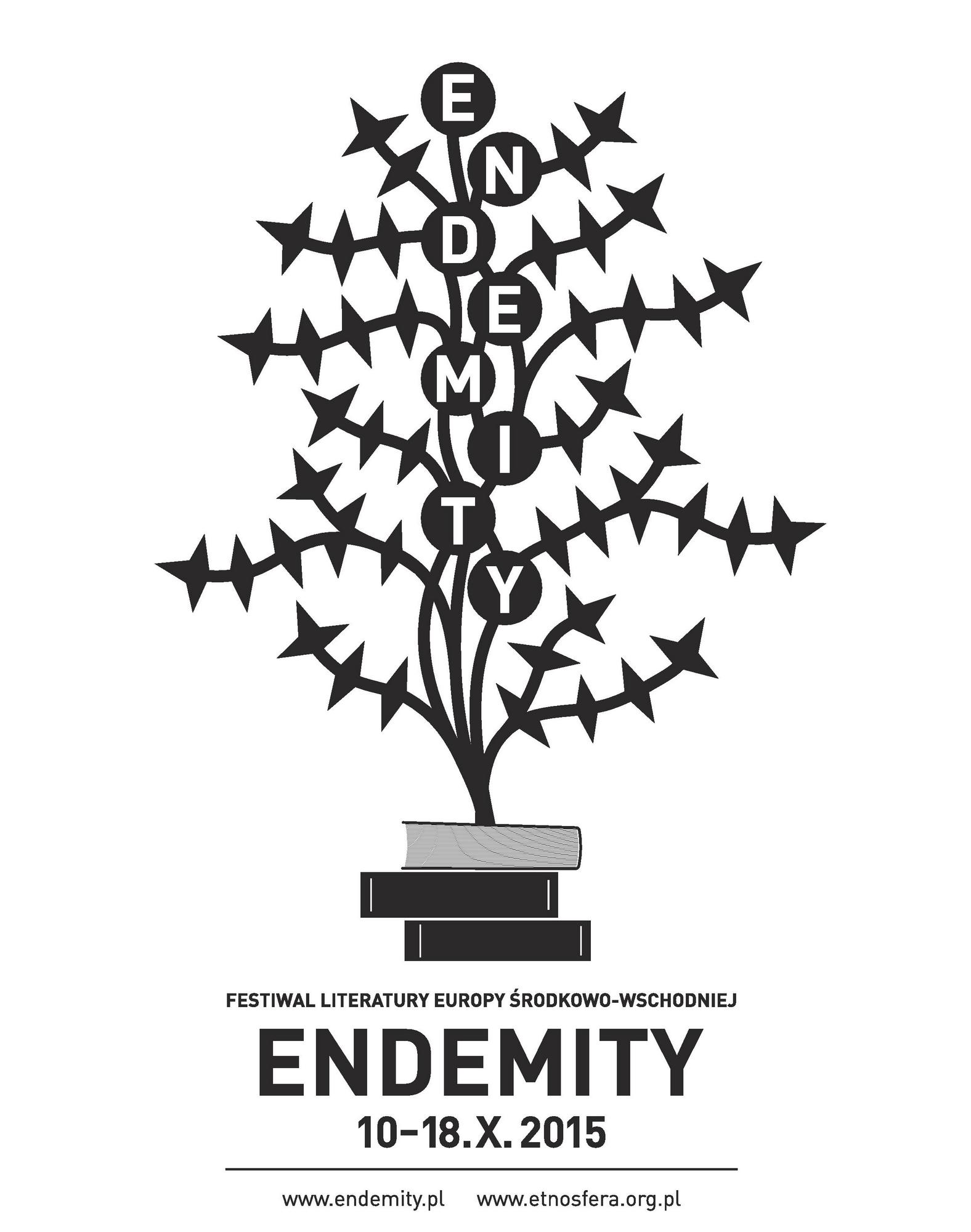 Festiwal Literatury Europy Środkowo-Wschodniej Endemity – plakat (źródło: materiały prasowe organizatora)