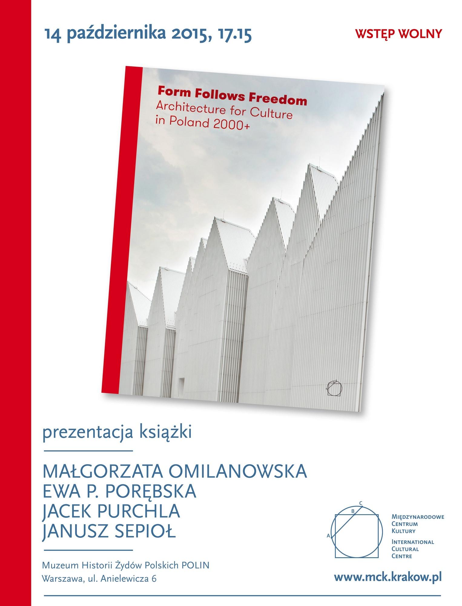 """""""Form Follows Freedom"""" – spotkanie w Muzeum Polin (źródło: materiały prasowe)"""