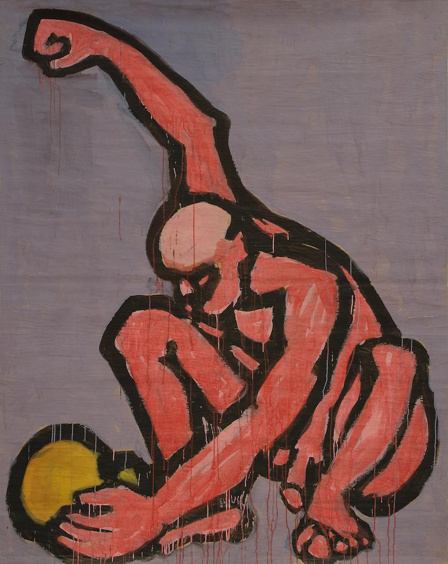 """Ryszard Woźniak, """"Rozbij czaszkę"""", 1985 (źródło: materiały prasowe organizatora)"""
