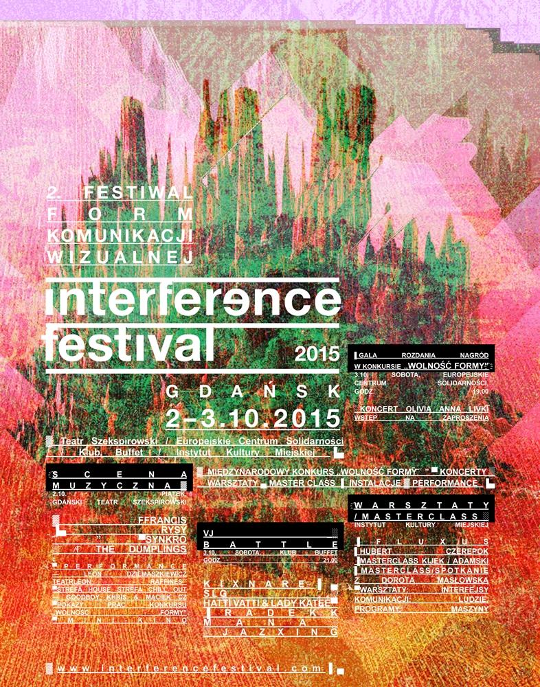 Interference Festival 2015 – plakat (źródło: materiały prasowe organizatora)