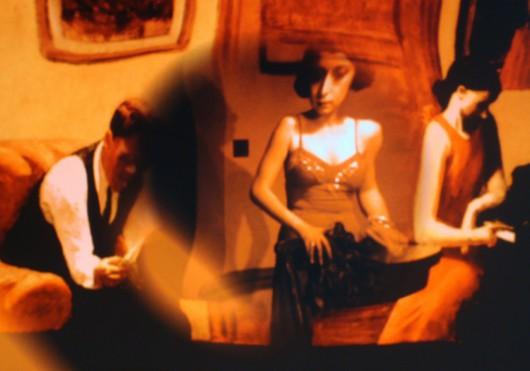 """Izabella Gustowska   Edward Hopper, """"Pokój w Nowym Jorku"""" (1932) – Alfred Hitchcock, """"Podejrzenie"""" (1942) (źródło: materiały prasowe organizatora)"""