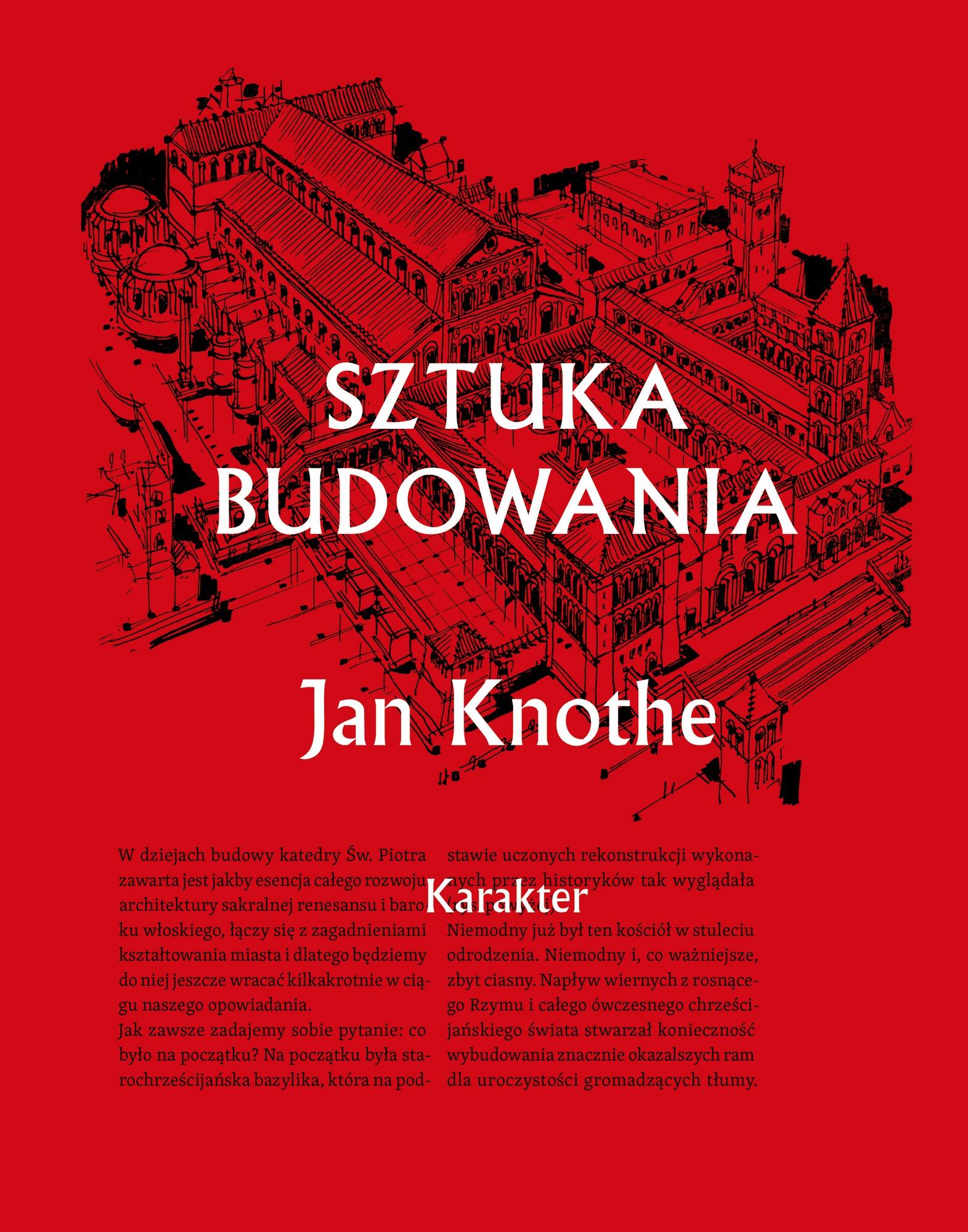 """Jan Knothe, """"Sztuka budowania"""" – okładka (źródło: materiały prasowe wydawcy)"""