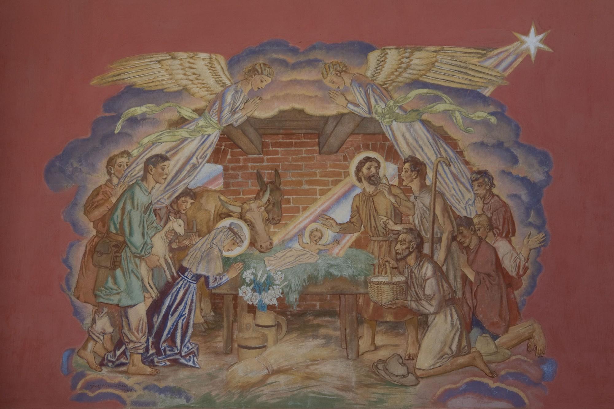 Józef Mehoffer, polichromia kościoła w Lubieniu – Boże Narodzenie, fot. MNK (źródło: materiały prasowe)