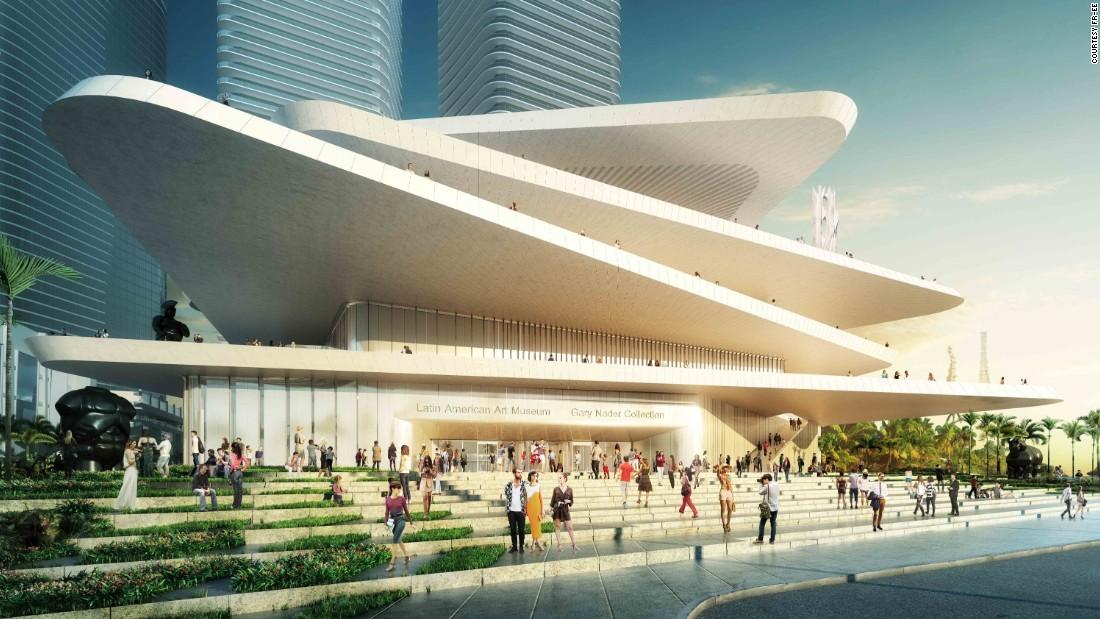 Muzeum Ameryki Łacińskiej w Miami (Latin American Art Museum) – planowana data otwarcia: 2016 r., proj. Fernando Romero (źródło: CNN Style)