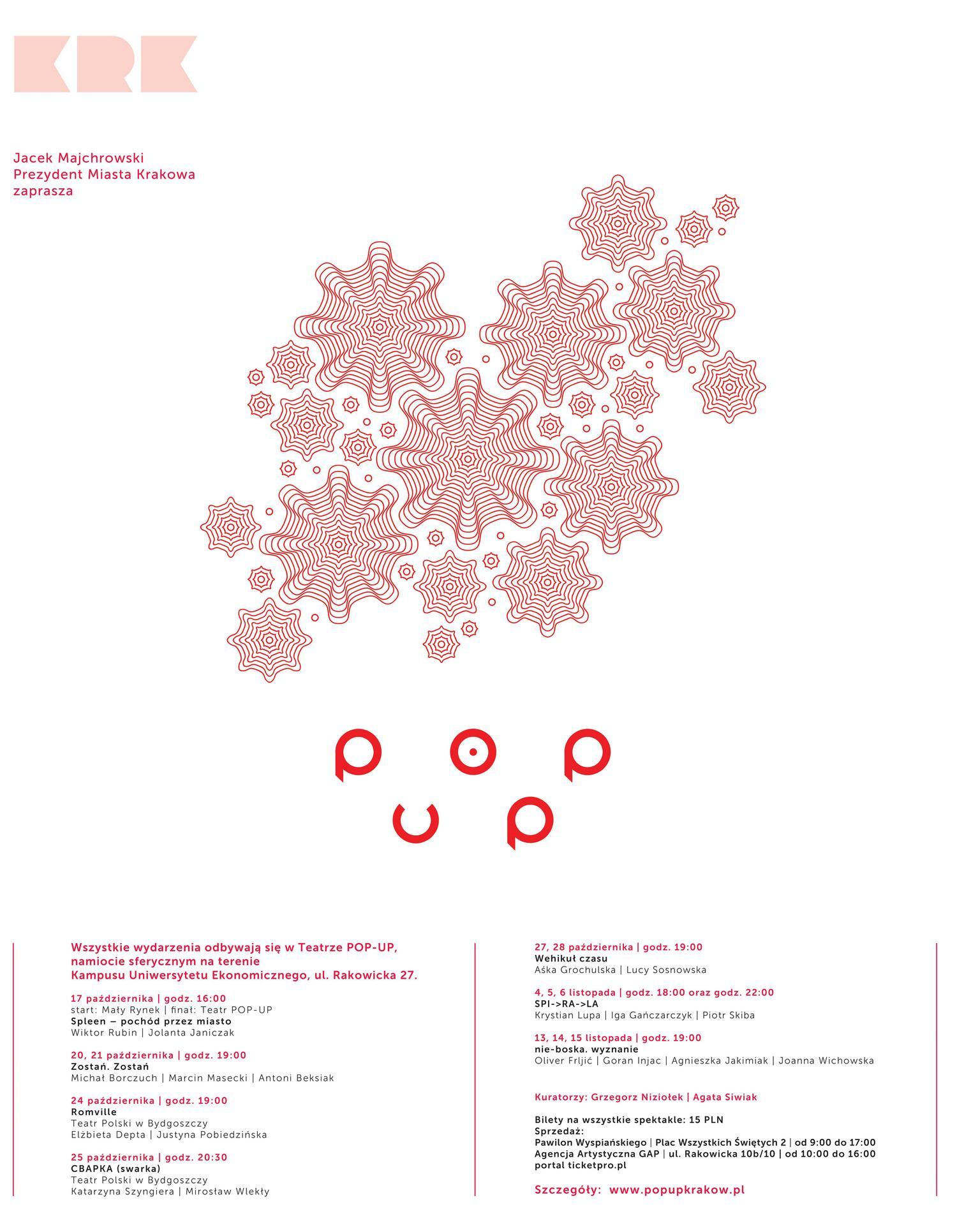 Teatr POP-UP – plakat (źródło: materiały prasowe)