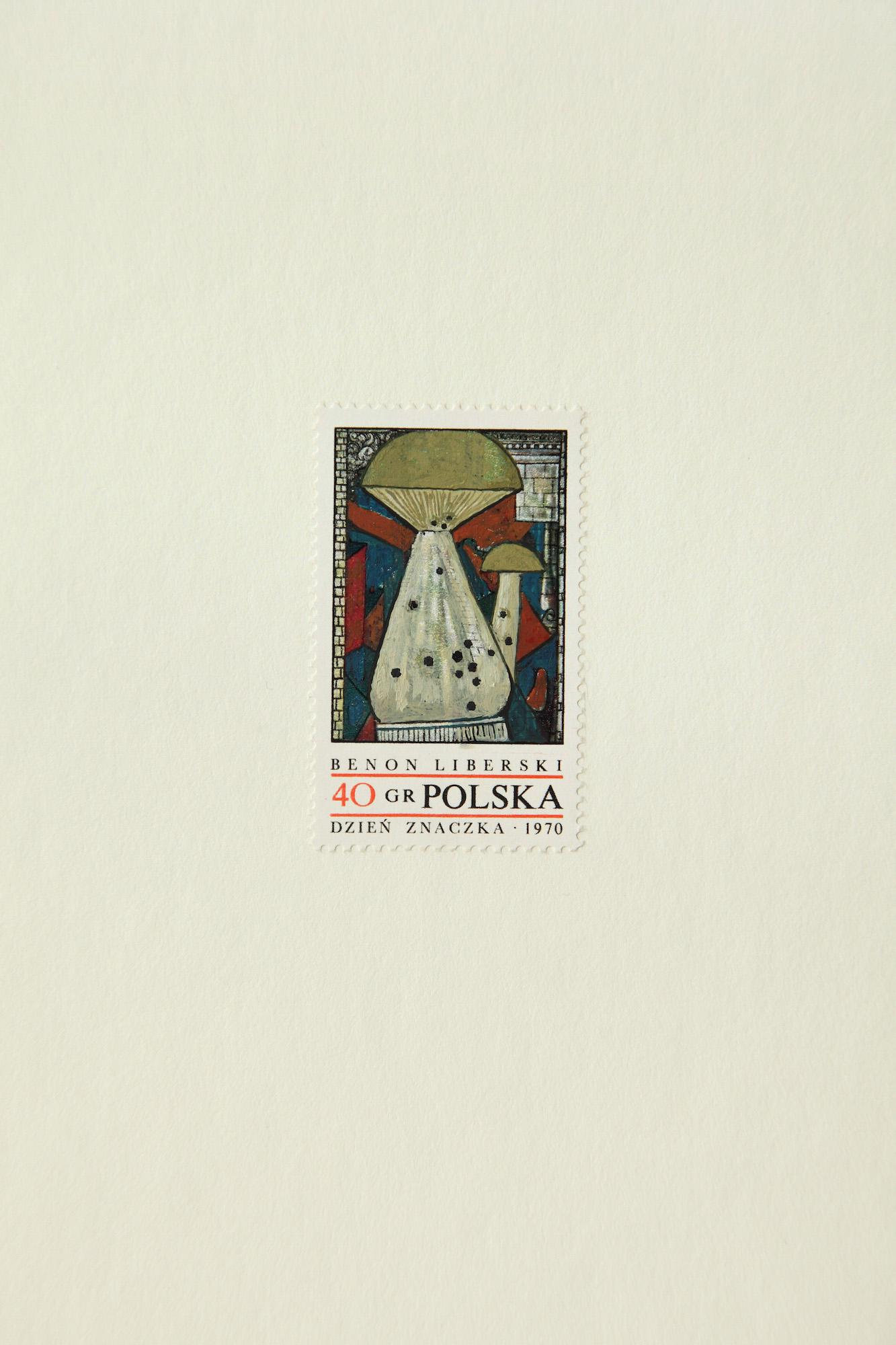 """Andrzej Tobis, seria znaczków """"Współczesne malarstwo polskie"""", Benon Liberski (źródło: materiały prasowe organizatora)"""
