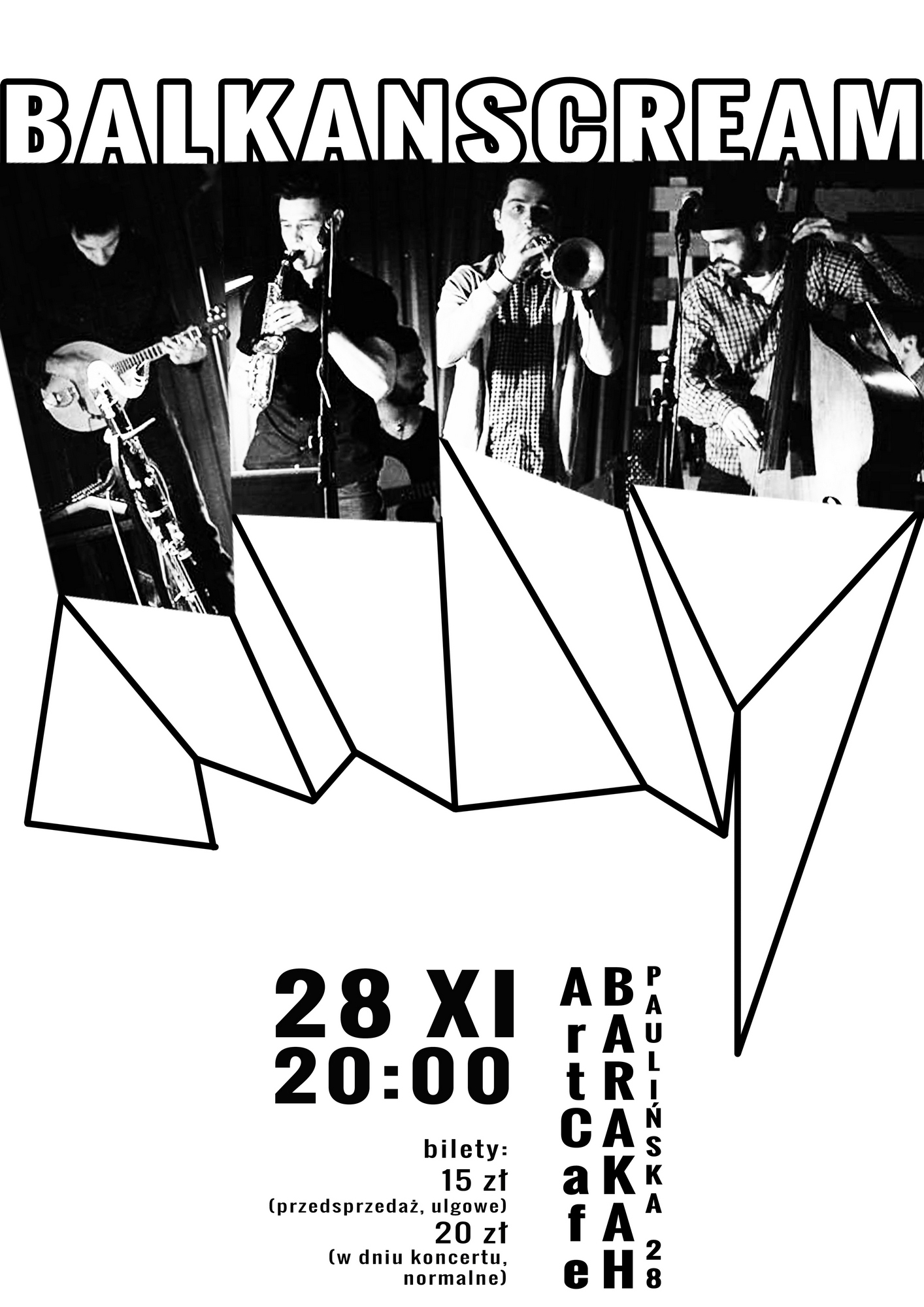 Balkanscream w Teatrze Barakah − plakat (źródło: materiały prasowe organizatora)