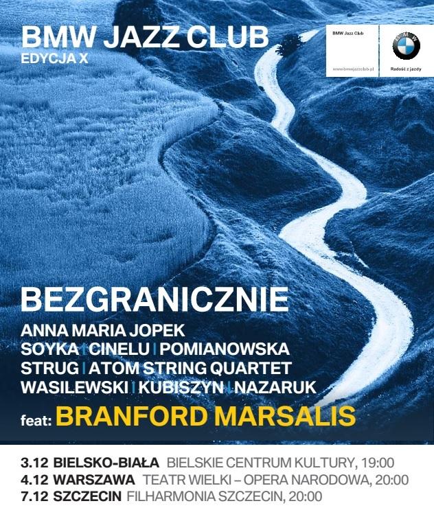 """X edycja BMW Jazz Club """"Bezgranicznie"""" − plakat (źródło: materiały prasowe organizatora)"""